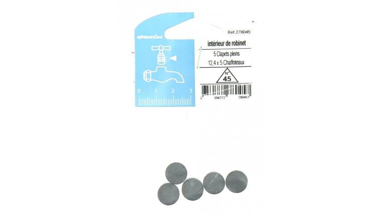 Lot de 5 Clapets Pleins pour Robinet Chaffoteaux 12,4 x 5 mm