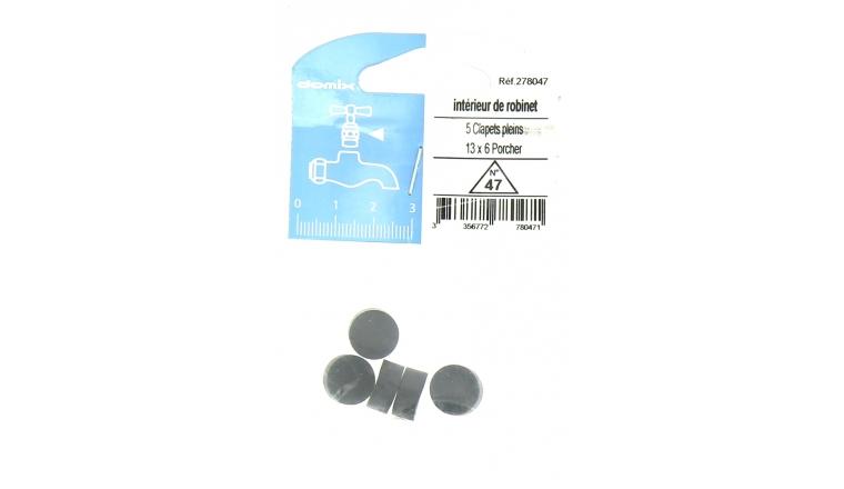 Lot de 5 Clapets Pleins pour Robinet 13 x 6 mm