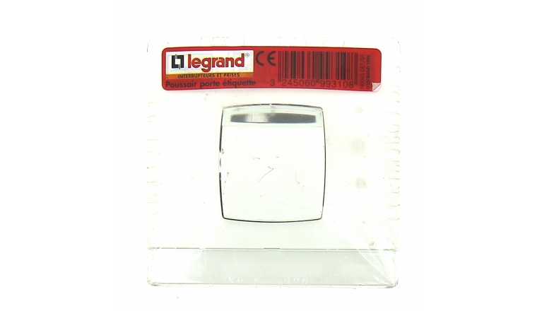Bouton Poussoir Lumineux Blanc Neptune - Legrand 99310