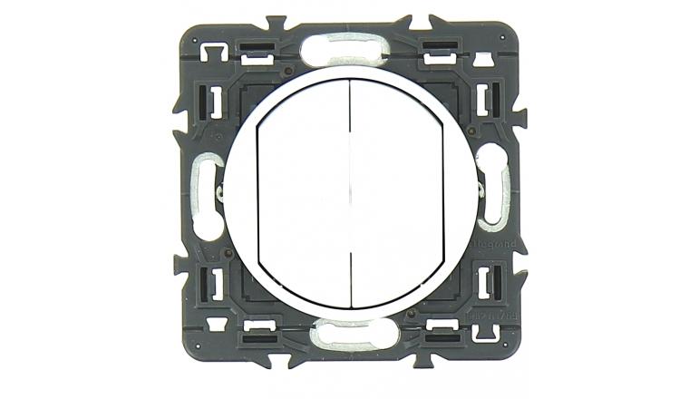 Mécanisme Interrupteur Double Va et Vient Blanc Céliane - Legrand 99721