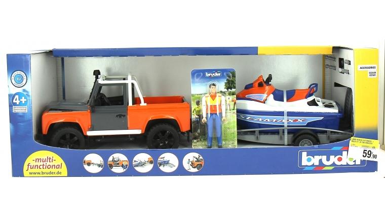 Jeep Land Rover et son Jet ski - Bruder 2599