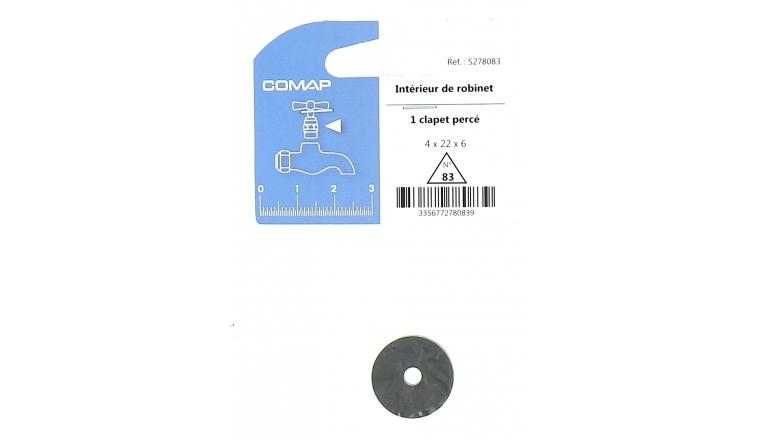 Clapet Percé pour Robinet 4 x 22 x 6 mm