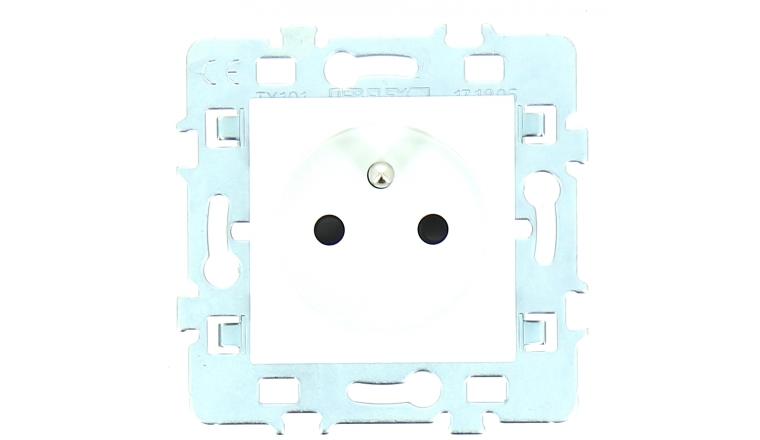 Mécanisme Prise 2P + T Blanc + Plaque Support CASUAL - Debflex 742924