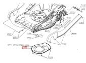 Cache courroie pour tondeuse thermique GTB, GTFK1 .. - Ref 43013 - Outils Wolf
