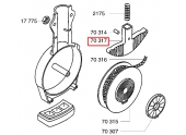 Poignée  de travail pour Outils de coupe et enrouleur Wolf - Ref 70317 - Outils Wolf