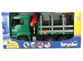 Camion Grume avec grue télescopique - Bruder 2769