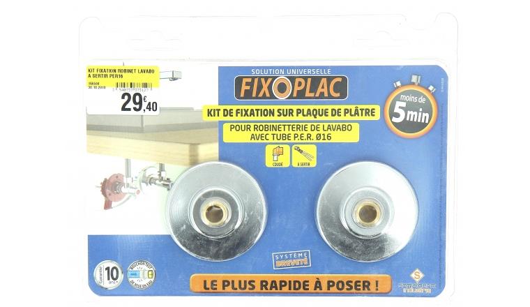 Kit de fixation Robinet sur Plaque de Plâtre Ø 16 mm pour Tuyau PER - Somatherm