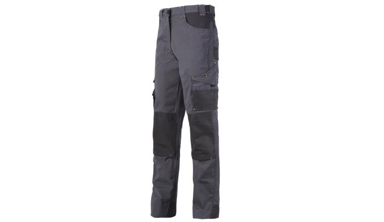 Pantalon de Travail ADAM Gris - de 36 à 52 - France Textile