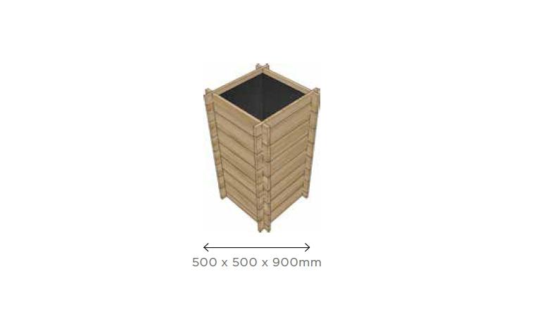 Bac Cultivateur de Pomme de Terre 500x500 mm en Pin S7288 - Solid