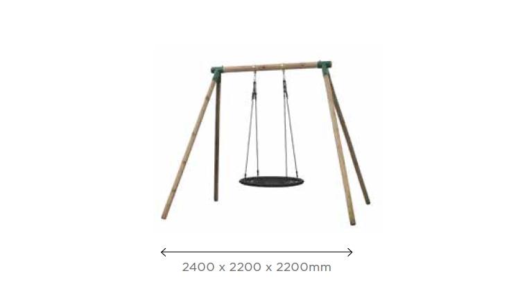 Balançoire 1 agrè 2400x2200 mm en Pin Carla SG992 - Solid