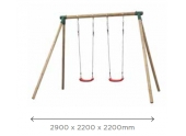 Balançoire 2 Agrès 2900x2200 mm en Pin Chloé SG993 - Solid