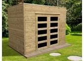 Abri de Jardin en Bois CAPRI Solid 5.37 m² S8731-1