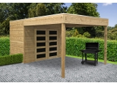 Abri de Jardin en Bois POTENZA Solid 5.37 m² S8733-1