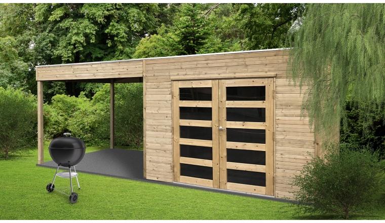 Abri de jardin en Bois SALERNO Solid 5.37 m² S8732-1