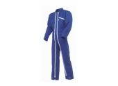 Combinaison 2 Zips Plein Air Poly/Coton bleue  - Taille 1 à 6 - Molinel