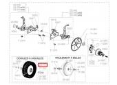 Roue arrière complète pour tondeuse thermique PAT, PIT, PVT ... - Ref 23411 - Outils Wolf