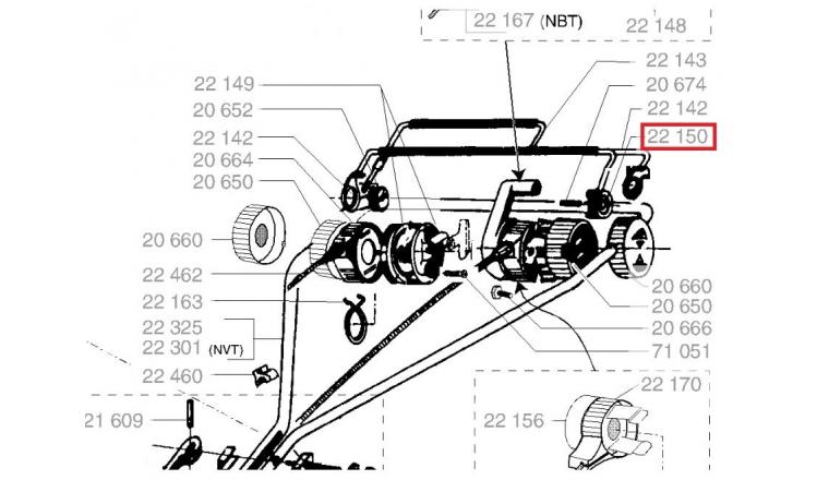 Pivot entraînement commande embrayage - Ref 22150 - Outils Wolf