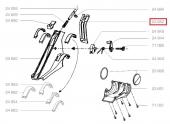 Cache arrière droit Guidon Tondeuse Thermique - Ref 23652 - Outils Wolf