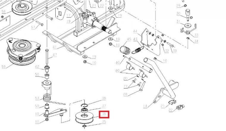 Galet tendeur pour Autoportée A80 - Ref 35141 - Outils Wolf