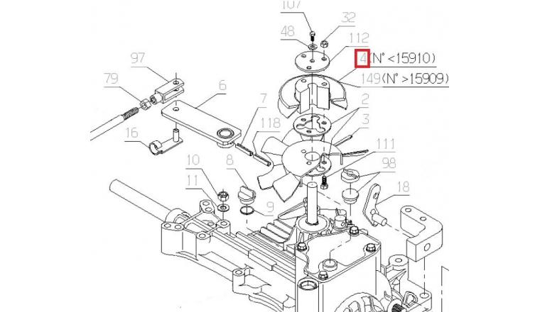 Kit Axe pour boite Autoportée A80 - Ref 28248 - Outils Wolf