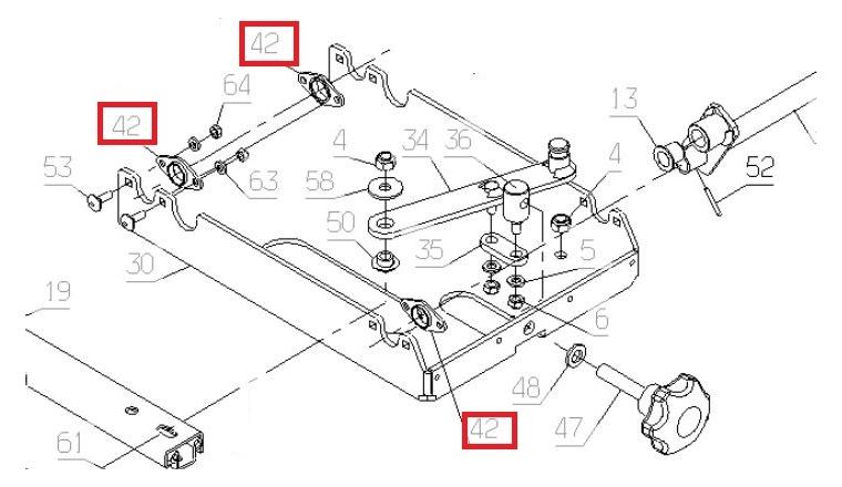 Palier IGUS pour Autoportée A85 - Ref 69269 - Outils Wolf