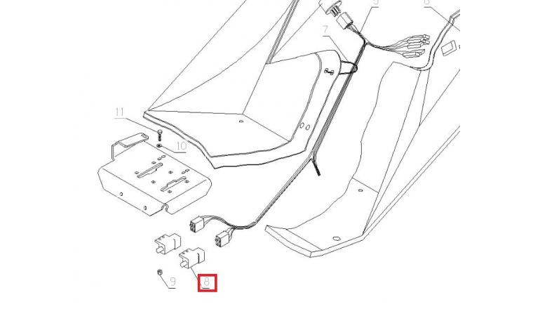 Contacteur transmission Avant Autoportée A80 - Ref 28159 - Outils Wolf