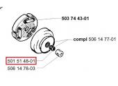 Cage à Aiguille pour Tronçonneuse 272K, 268K, 266 ... - Ref 501 51 48-01 - Husqvarna
