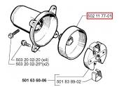 Tambour d\'embrayage pour 245R, 240, GR50 .. - Ref 502 11 77-01 - Husqvarna