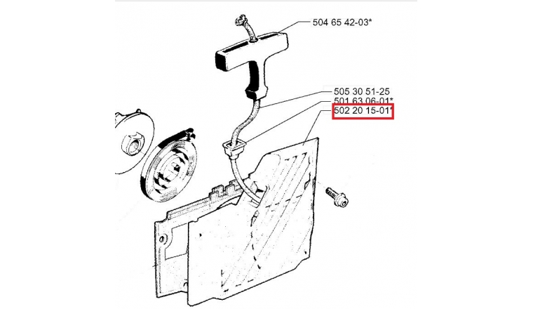 Carter de Lanceur pour GR41, RS44, GR50 ... - Ref 502 20 15-01 - Husqvarna