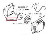 Poulie de Lanceur pour RS52, RS51 250 R ... - Ref 502 28 07-01 - Husqvarna