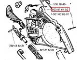 Carter de frein de chaîne pour 630, 625, 670 Jonsered - Ref 503 51 64-02 - Husqvarna