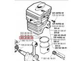 Segment de Piston pour 2054, GR44, GR50 ... - Ref 503 28 90-10 - Husqvarna