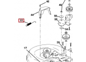 Ressort d\'extension pour Tondeuse YTH180, YTH150 .. - Ref 532 13 19-50 - Husqvarna