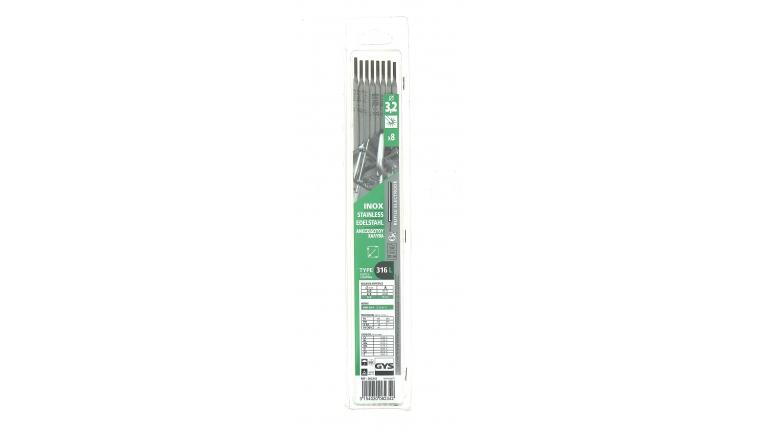 Lot de 8 Electrodes pour Soudure Inox Ø 3,2 mm - Ref 082342 - GYS