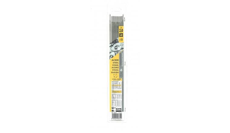 Lot de 13 Electrodes pour Soudure Rutile Acier Ø 2.0 mm - Ref 084322 - GYS
