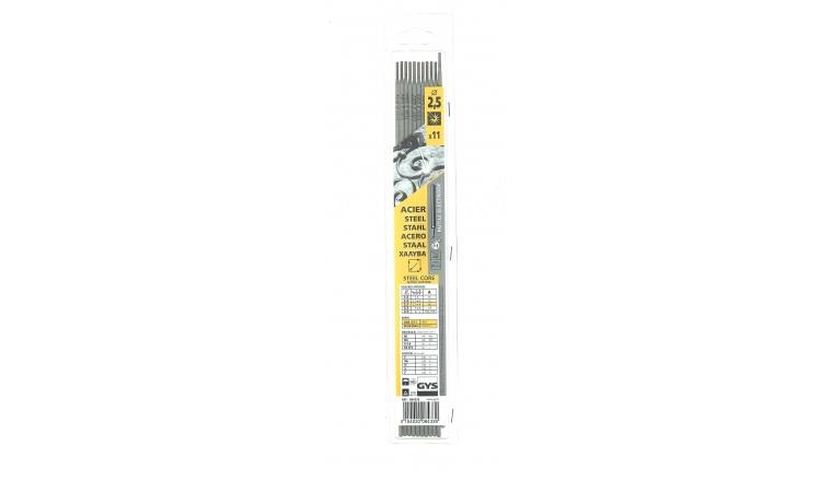 Lot de 11 Electrodes pour Soudure Rutile Acier Ø 2,5 mm - Ref 084339 - GYS