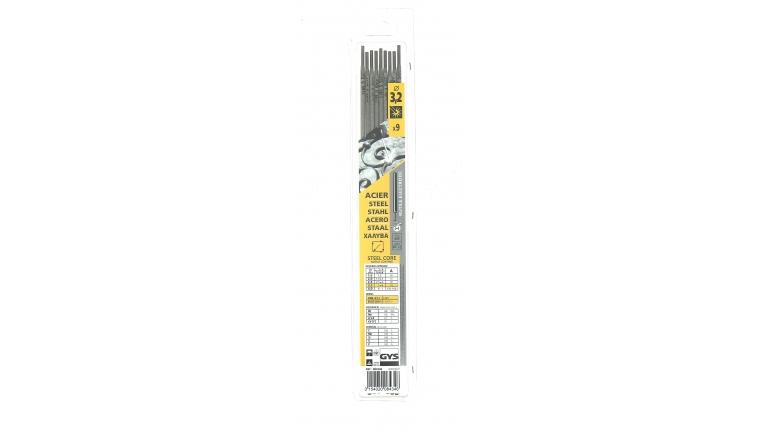 Lot de 9 Electrodes pour Soudure Rutile Acier Ø 3.2 mm - Ref 084346 - GYS