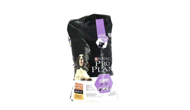 Croquettes Chien Médium et Large Adult 7+ Riches en Poulet Pro Plan - 14kg - Nestlé Purina