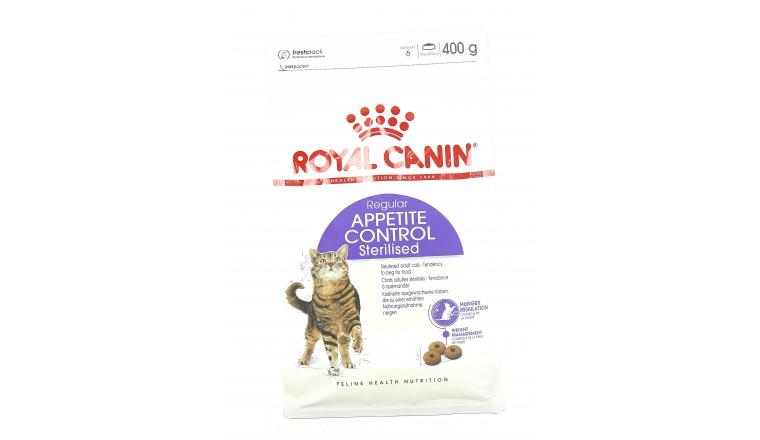 Croquettes Chat Stérilisé Appetite Control Royal Canin Sachet 400gr