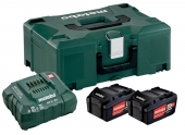Pack de 2 batteries 18V 4.0Ah + chargeur ASC 55 Metabo