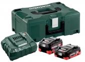 Pack Batterie LiHD 18V 4,0Ah, 5,0Ah + chargeur ASC 55 Metabo