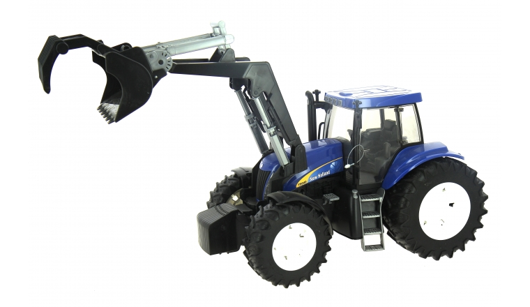 Tracteur New Holland T8040 avec chargeur Frontal - Bruder 3021