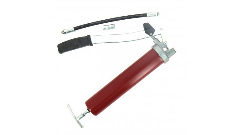 Pompe à Graisse à Levier Rouge 14273331 Pressol + flexible et agrafe