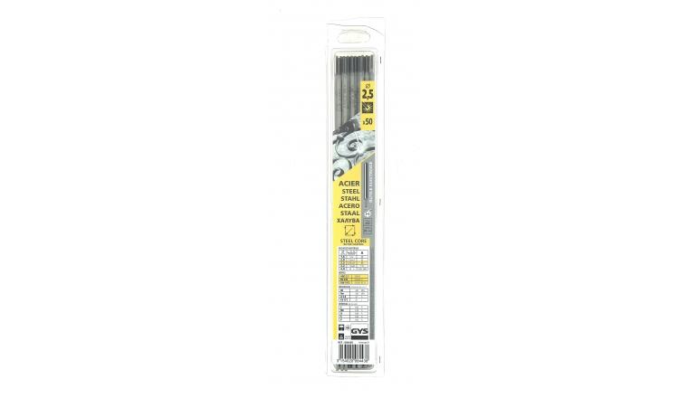 Lot de 50 Electrodes pour Soudure Rutile Acier  Ø 2,5 mm - Ref 084438 - GYS