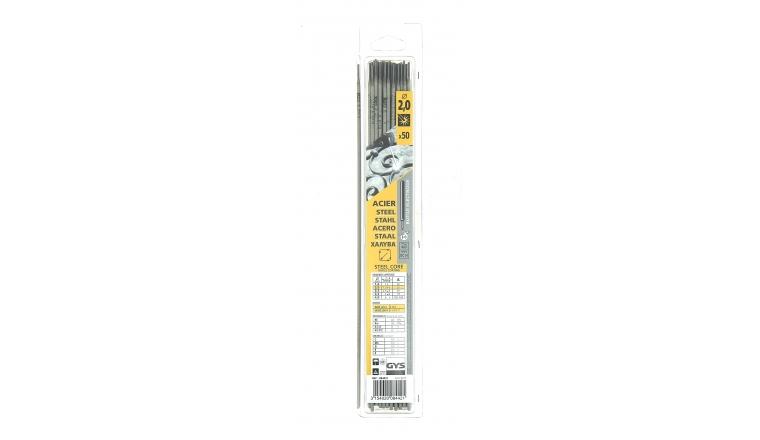 Lot de 50 Electrodes pour Soudure Rutile Acier Ø 2.0 mm - Ref 084421 - GYS
