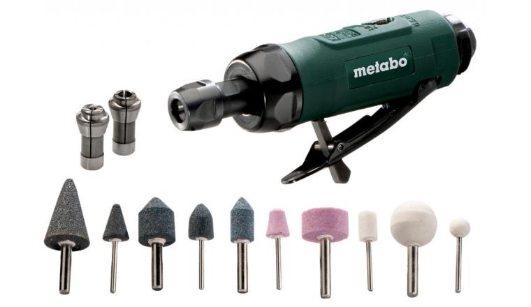 Meuleuse Droite à air comprimé Metabo DG 25 SET