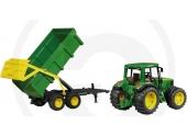 Tracteur John Deere 6920 avec Remorque Benne Basculante - Bruder 2058