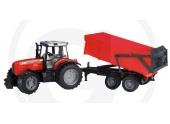 Tracteur Massey Freguson 7480 avec benne basculante - Bruder 2045