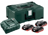 Set de base 3 batteries LiHD 4.0 Ah dans un coffret Metaloc II