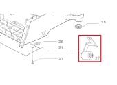 Roulette anti basculement tondeuse robot R20AC, R30AC et ROW1 - Ref 33909 - Outils Wolf